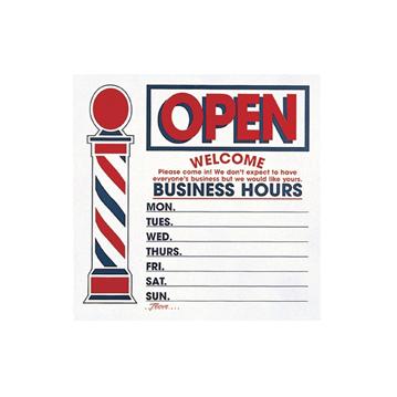 Open/Closed Barber Sign - Morris Flamingo Barber Express